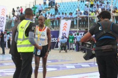 Abraham Kiprotich of Kenya won the Lagos City Marathon.