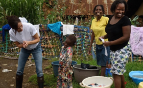 Britain's Victoria Beckham Sneaks Into Kenya for Charity Event