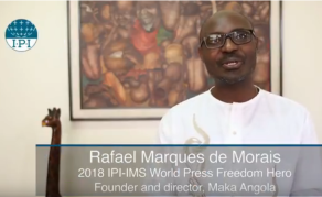 Maka Angola's Rafael Marques Named 70th IPI Press Freedom Hero