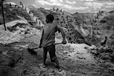 A child working in a mine (file photo).