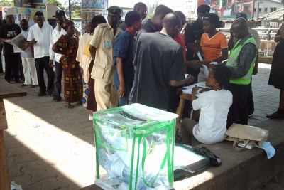 A polling station in Lagos (file photo).