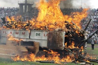 Le désarmement à Bouake, Côte d'Ivoire,