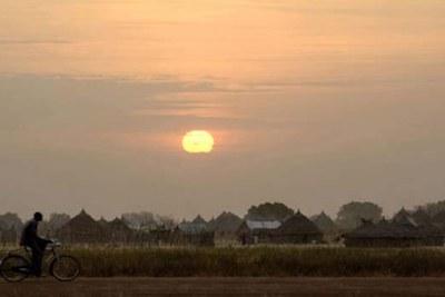 Sunset in the Abyei region of Molomol.
