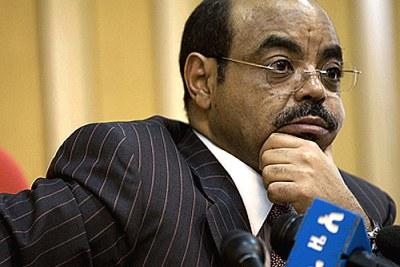 Ethiopian Prime Minister Meles Zenawi.