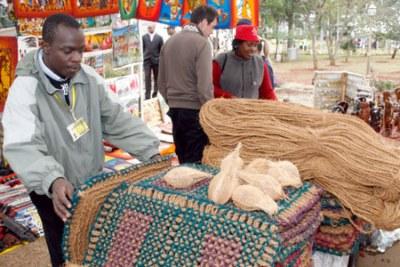Un marchand lors d'une rencontre sur l'Agoa à Nairobi.