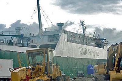 Photo d'archives au Port de Lagos