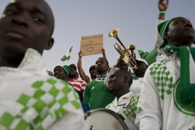 Nigerian football fans are hoping for a big win against Greece.