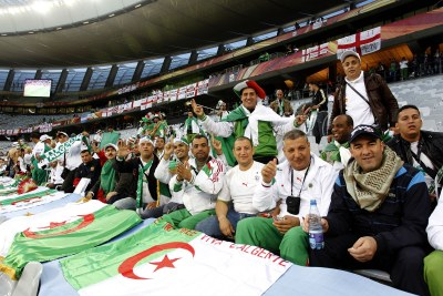"""Algerian fans ready to cheer on """"Les Fennecs"""" in Cape Town on June 18."""