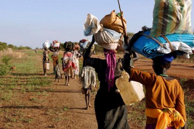 (File photo): Internally displaced persons fleeing fighting in Abyei.