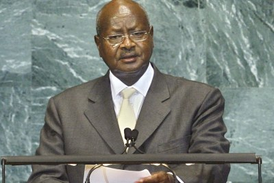 Yoweri Kaguta Museveni, President of the Republic of Uganda, addresses the general debate of the sixty-fifth session of the General Assembly.