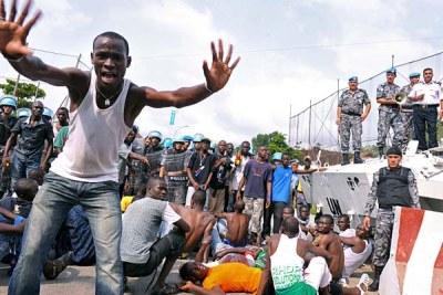 Manifestants blessés au siège des Nations Unies