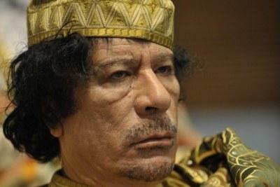 Muammar al-Gaddafi (file photo).