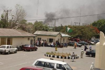 Révoltes à Kano après les résultats provisoires qui ont annoncé la victoire de Goodluck Jonathan à l'élection présidentielle.