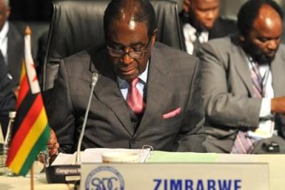 President Robert Mugabe (file photo)