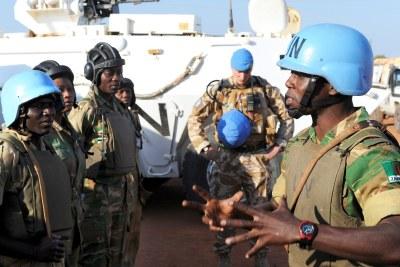 Des Soldats de la paix des Nations unies dans Abyei.