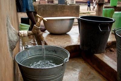 Robinet d'eau potable à Bonsaaso