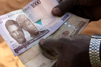 Nigeria's Naira currency (file photo).