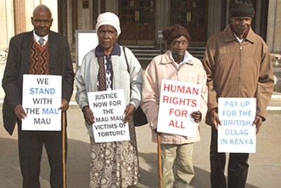 Former Mau Mau fighters, who are in their 70s and 80s, have sued the British government for compensation over torture during the colonial era (file photo).