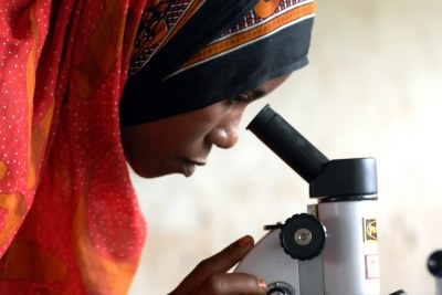 Science Education Class USAID-related science programs assist in expanding training for women.