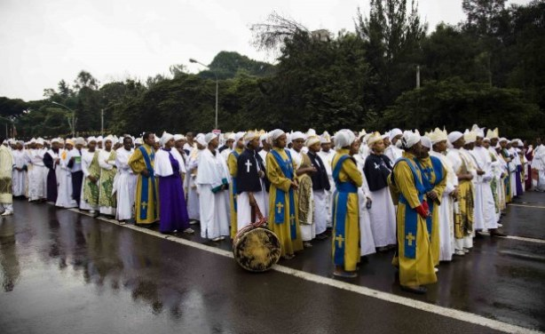 Ethiopian Orthodox Tradition of Building a Big Bonfire