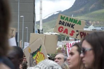 Scores of anti-fracking activists (file photo).