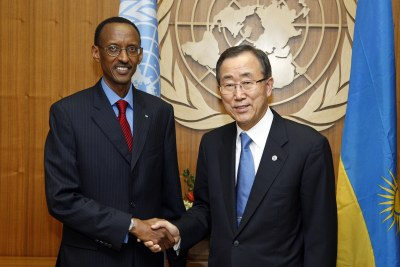 Secretary-General Meets President of Rwanda (file photo)