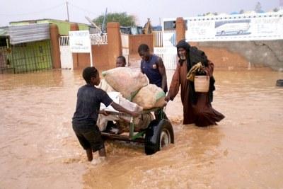 Des réfugiés inondés au Nigeria.