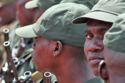 Soldiers of the Central African Republic's armed forces.