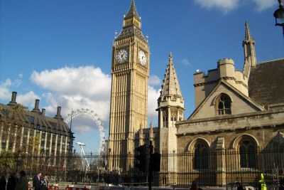 London Eye and Big Ben.