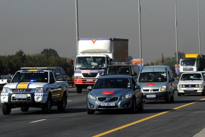 Motorists participating in Cosatu's