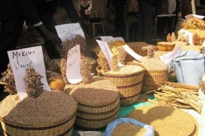 (Photo d'archives) - Céréales sur un marché au Soudan du Sud