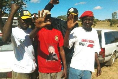 MDC-T and Zanu PF supporters together.