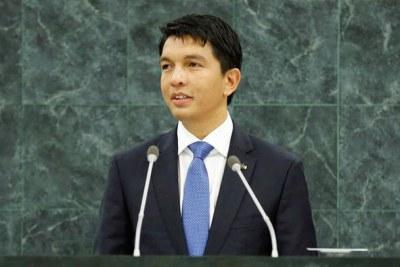 Andry Rajoelina, président de la transition malgache