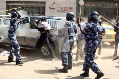 Confrontation between police and protesters in Khartoum (file photo).