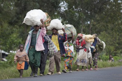 Personnes déplacées du Nord Kivu.