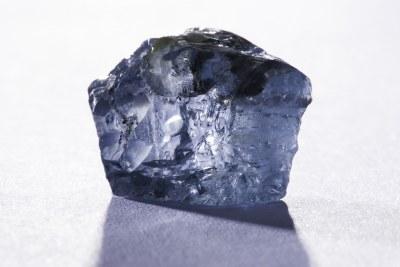 Un diamant bleu exceptionnel de 29,6 carats récupéré à la mine Cullinan en janvier 2014.