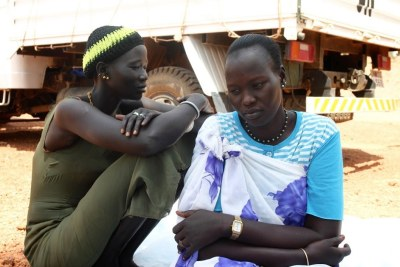Displaced in South Sudan.