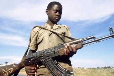 Child soldier.