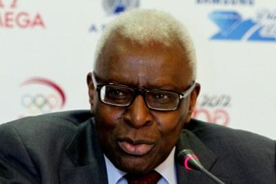 Lamine Diack, président de l'Association internationale des fédérations d'athlétisme (Iaaf)