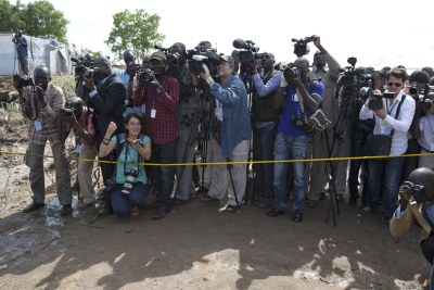 Photo journalists in South Sudan (file photo).