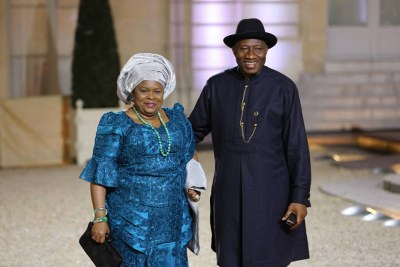 First Lady Patience Jonathan  and Goodluck Jonathan.