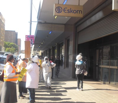 Protesters Gather Outside Eskom to Protest Nuclear Energy
