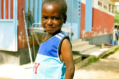 Young Ebola survivor Vandy Jawad on the day he left the treatment center.