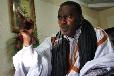 Biram Dah Abeid, un Mauritanien militant contre l'esclavage, quelques jours avant son arrestation