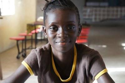 Girls Empowerment Summit Sierra Leone. The day began by meeting one of our cheerful, beautiful, and wonderful girls. Meet Fatmata Binta!