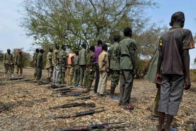 Des enfants soldats libérés au Soudan du Sud.