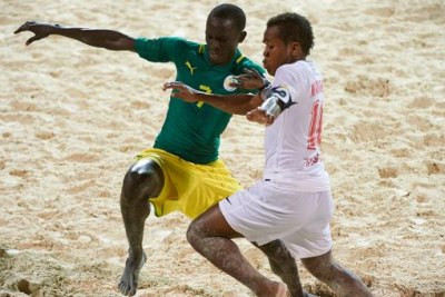 Match Sénégal contre Madagascar au CHAN 2015 de Beach Soccer