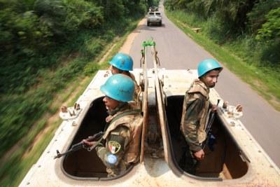 RDC : Casques bleus dans l'Est du pays.