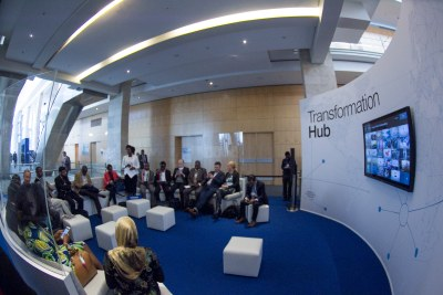 Participants gather in what the World Economic Forum called