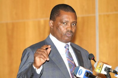 National Assembly Speaker Justin Muturi, who on July 6, 2015 led lawmakers in warning US President Barack Obama against promoting the gay agenda on his Kenya visit in July 2015.
